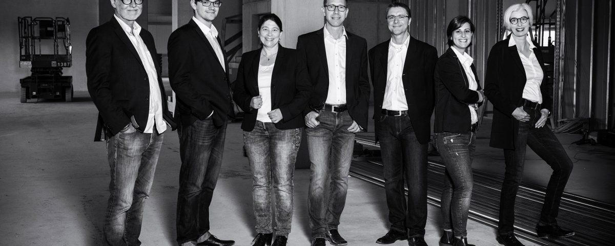 Architektenteam, Baustelle, Teambild, Mitarbeiterportraits, Businessfotos, Jülich